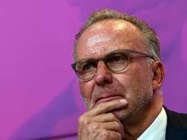 Nouvelle charge de Rummenigge contre les projets de réforme. AFP