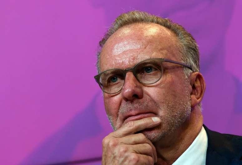 Rummenigge não quer a divulgação dos salários. AFP