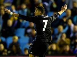 Avec un doublé de Cristiano Ronaldo, le Real Madrid bat le Celta Vigo, le 17 mai 2017. AFP