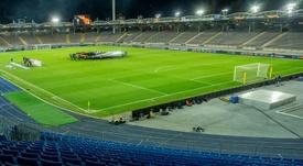 El LASK Linz, primer equipo en volver a entrenar en Austria. AFP