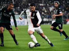 Juventus - Lokomotiv Moscou: onzes iniciais confirmados. AFP