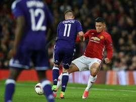 Fenerbahce want Marcos Rojo on loan. AFP
