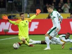 T.Hazard a ouvert le score. AFP