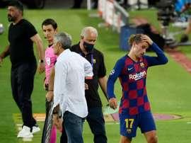 Griezmann pode não estar nos XI contra o Bayern. AFP