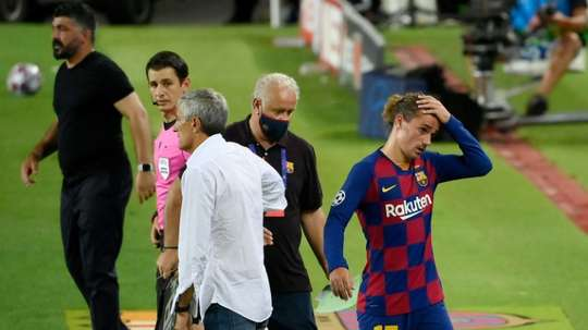 Griezmann could be benched against Bayern. AFP
