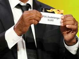 Tirage au sort des phases de poules de la Ligue Europa. AFP