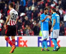 O Marseille bateu o Athletic por 1-2. AFP