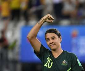 Sam Kerr could get picked up by Chelsea. AFP