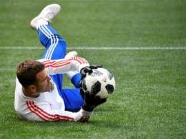 Akinfeev podría jugar en el Nápoles. AFP