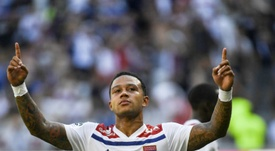 Memphis Depay returns to Manchester to face ex-rivals City on Wednesday. AFP