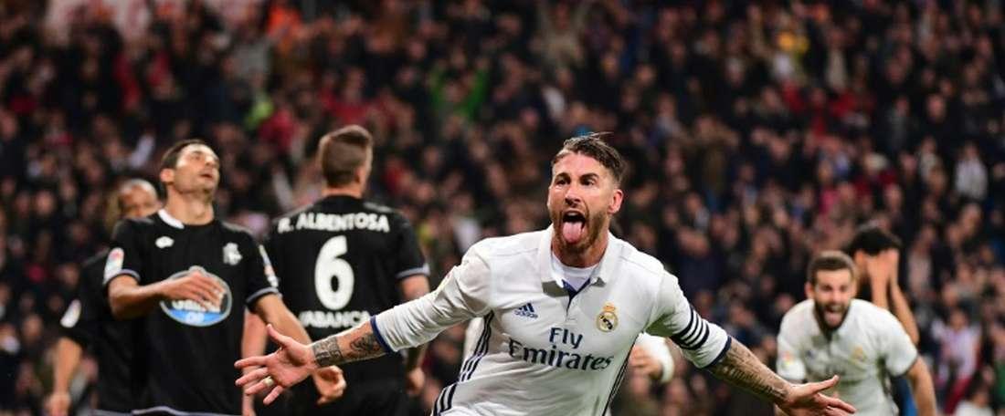 Zidane et Ramos : le secret d'un couple qui dure ? La victoire. AFP