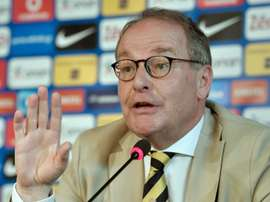 Le président du comité de surveillance de la Fifa en charge de la Grèce, Herbert Hübel. AFP