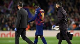 Barca fear that Dembélé could leave for free. AFP