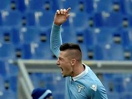 Sergej Milinkovic-Savic pode ser 'red devil' para a próxima temporada. EFE