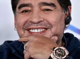 Maradona habló de los objetivos de su club. AFP