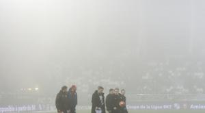 Partida da Ligue 1 é adiada por uma densa neblina. AFP