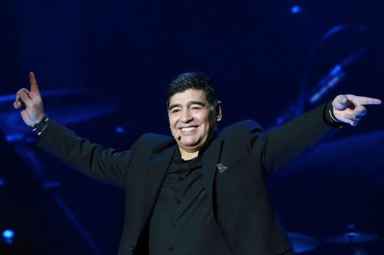 Santa Maradona: la main de Dieu posée sur les guitares. AFP