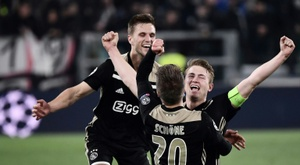 Matthijs de Ligt after the win in Turin. AFP