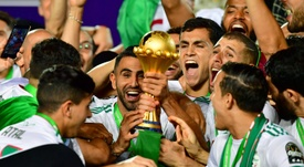 Mahrez a rejoint les quintuples champions. AFP
