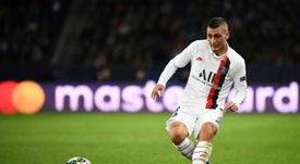 Verratti empezará en el banquillo frente al Girondins. AFP