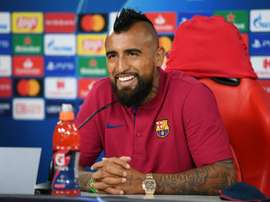 Vidal is on his way. AFP