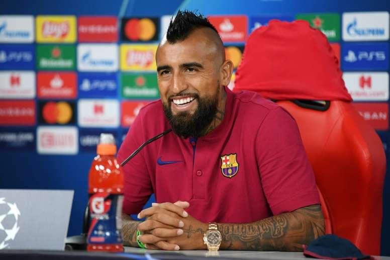 Vidal is on his way. AFP