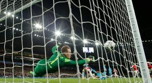 Le gardien allemand du FC Barcelone Marc-André ter Stegen lors du 8e de finale aller de C1. AFP