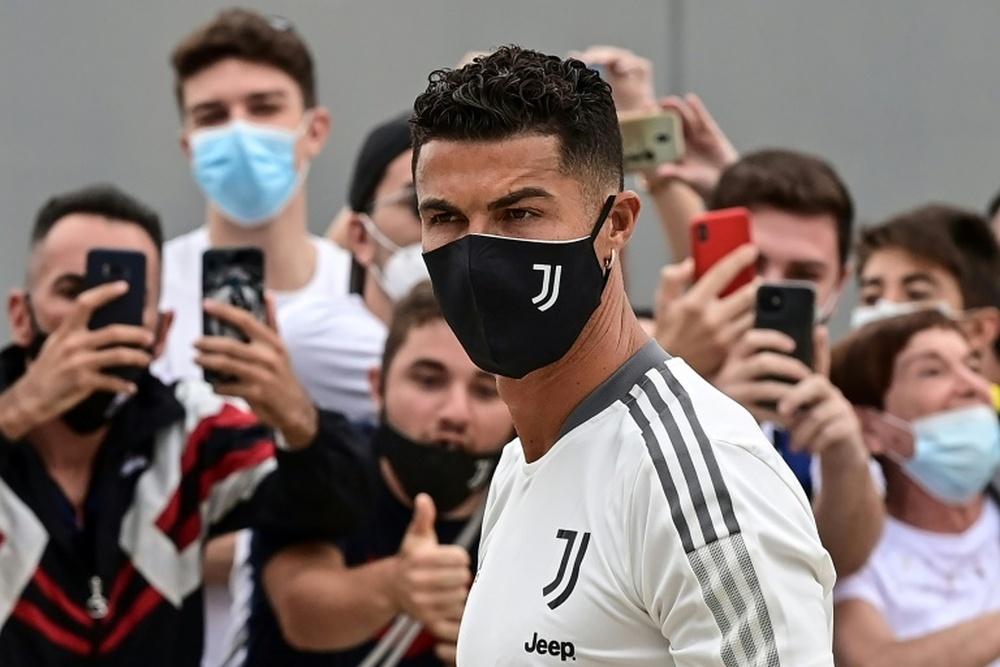 Cristiano superó el primer entrenamiento de la pretemporada. AFP