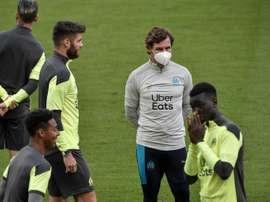 Le groupe de l'OM contre Lorient. AFP