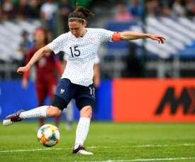Elise Bussaglia lors du match amical face à la Thaïlande à Orléans. AFP