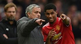 Mourinho ensalza la figura del inglés. AFP/Archivo