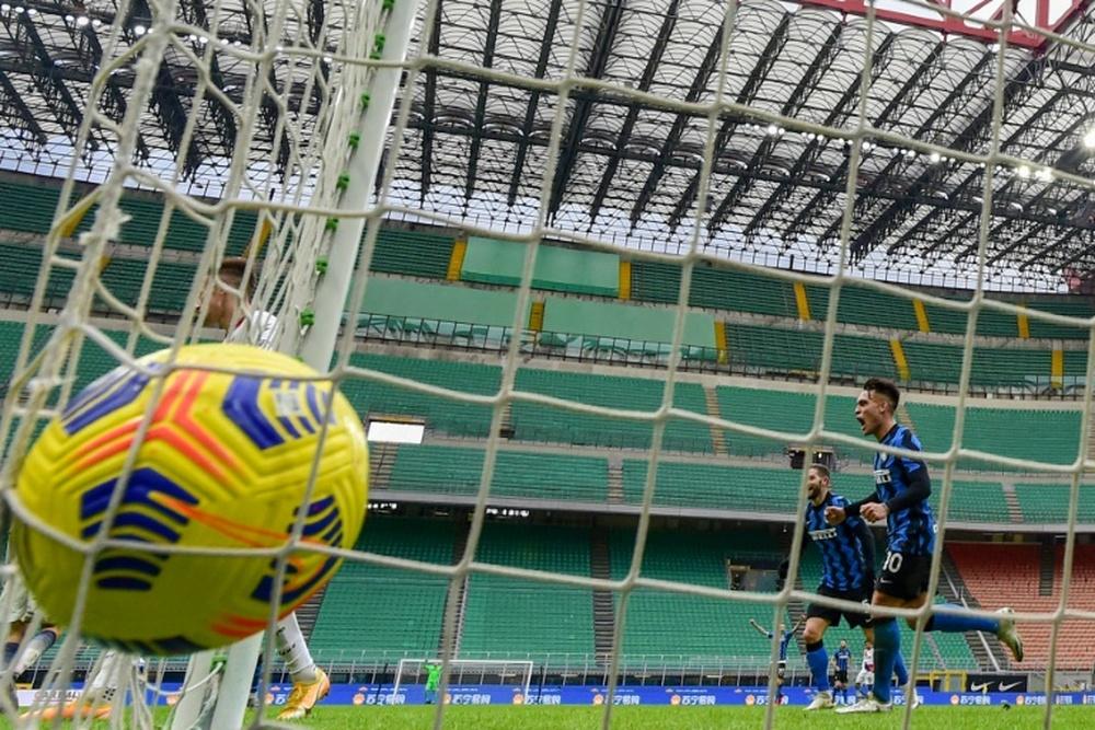 Diego Milito espera que el Inter firme una gran Champions. AFP