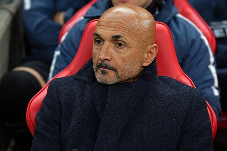 Luciano Spalletti avant le coup d'envoi du match contre Tottenham Hotspur. AFP