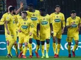 Les joueurs nantais faciles vainqueurs de Toulouse. AFP