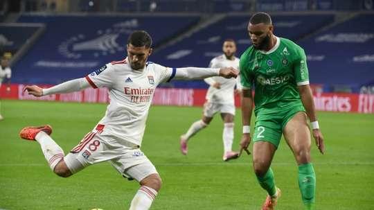 Les compos officielles du match de Ligue 1 entre Saint-Étienne et Lyon. AFP