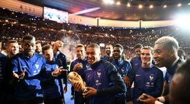 Les Bleus doivent partager la première place. AFP