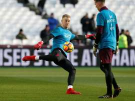 Moyes refused to confirm Adrian or Hart's future at West Ham. AFP