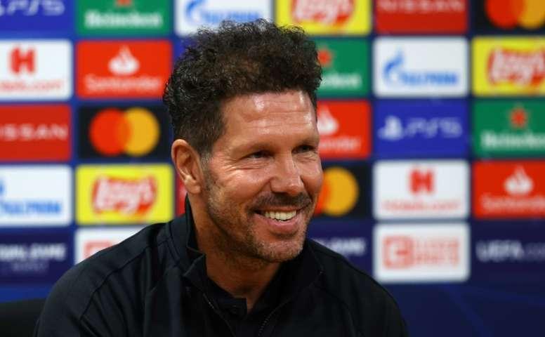 Simeone compareció ante los medios en la previa del duelo contra el Celta. AFP/Archivo