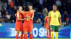 La Chine l'emporte face à l'Afrique du Sud. AFP