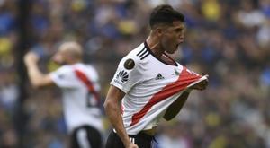 Palacios é considerado a grande promessa do futebol argentino. AFP