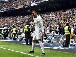 La star du Real Madrid Cristiano Ronaldo, auteur dun doublé contre lAthletic Bilbao à Santiago Bernabeu, le 13 février 2016