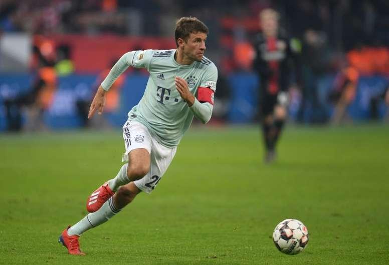 Thomas Müller está cerca de salir del Bayern de Múnich. AFP
