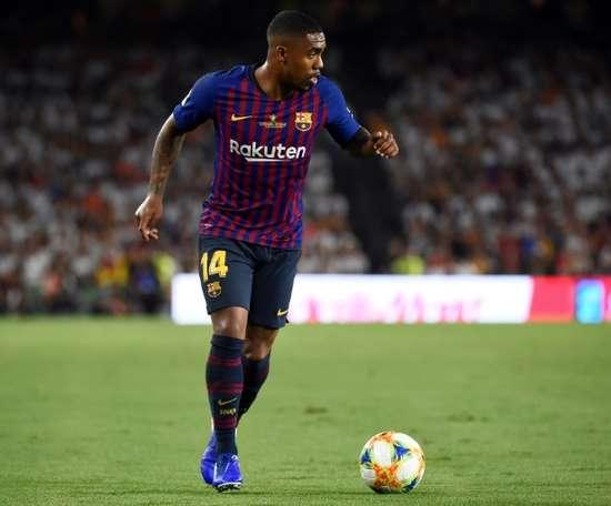 Malcom culpa o Barcelona por suas lesões. AFP
