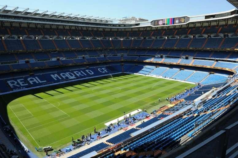 Vue générale du stade Bernabeu à Madrid. AFP
