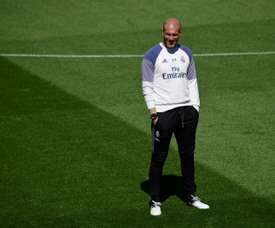 Zinedine Zidane, Trainer of Real Madrid. AFP