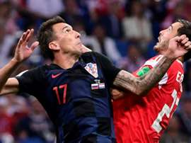 Mario Mandzukic believes they'll be able to get past Jordan Pickford. AFP