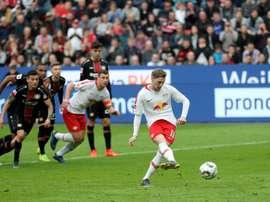 Leipzig consolide sa troisième place. AFP