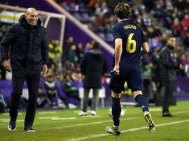 Nacho fala sobre sua comemoração com Zidane. AFP