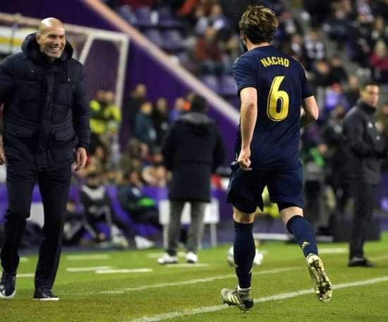 Le Real Madrid annonce la blessure de Nacho. AFP