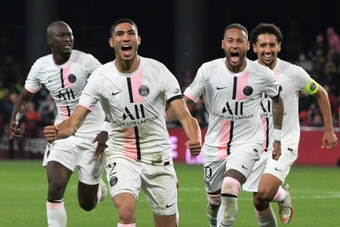 Hakimi a donné la victoire aux parisiens. AFP